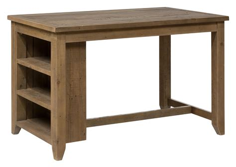 kitchen counter table with storage counter height table with 3 shelf storage by jofran wolf