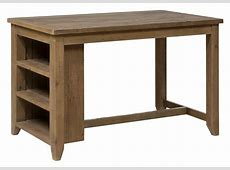 Counter Height Table with 3 Shelf Storage by Jofran Wolf