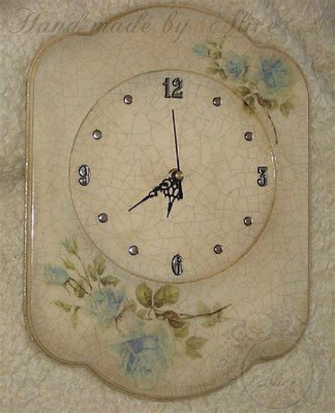 paso a paso de mis trabajos inspiraciones clock decoupage y crafts
