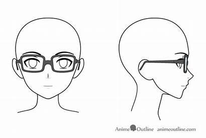 Glasses Anime Head Draw Manga Side Animeoutline