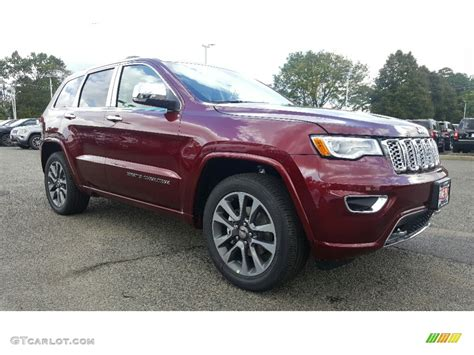 red jeep 2017 2017 velvet red pearl jeep grand cherokee overland 4x4