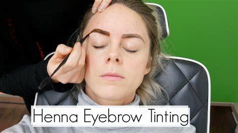 henna eyebrow tinting youtube