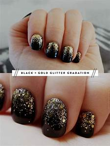 Fake nail black and gold designs images pictures becuo