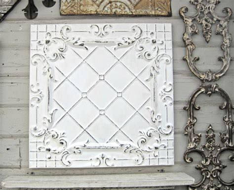 Antique Tin Ceiling Tile Framed 2x2 Antique By Driveinservice
