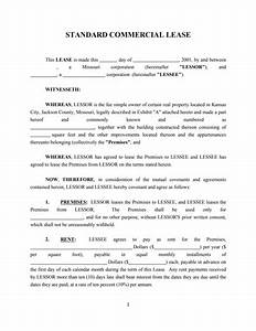 commercial property licence agreement template - commercial lease agreement template free download create