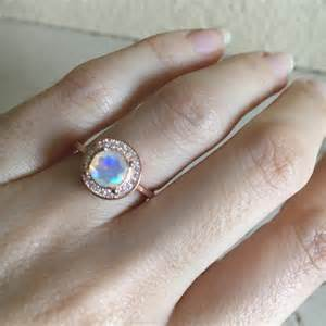 opal engagement rings white gold opal engagement ring gold opal ring halo ring