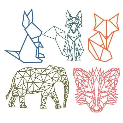 geometric animal cuttable design cut file vector clipart