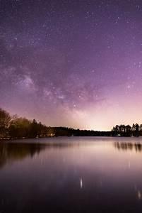 Silhouette Of Mountain Range Under Stars  U00b7 Free Stock Photo