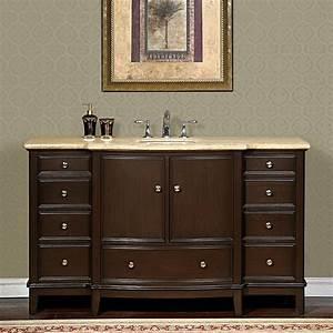 60 perfecta pa 6003 bathroom vanity single sink cabinet With dark walnut bathroom cabinet