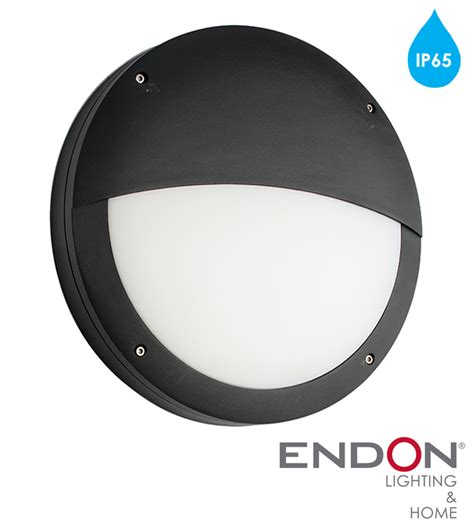 endon luik led eyelid round outdoor wall light textured