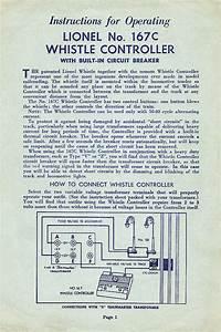 Lionel Trains 167 Whistle Controller Accessory