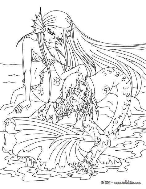mermaid tale coloring page coloring pages
