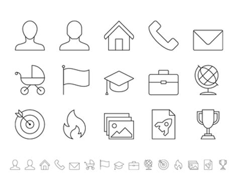curriculum vitae icon series by wouter buning