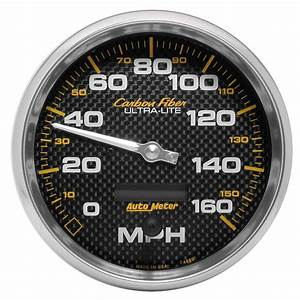 Auto Meter 4889 Carbon Fiber Series 5 U0026quot  Electronic