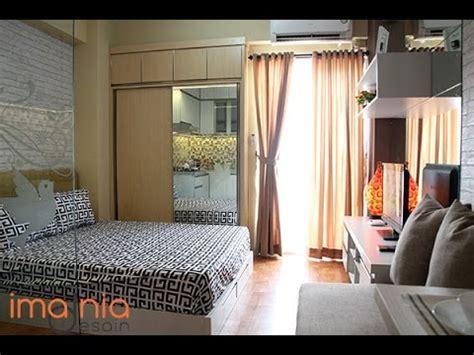 desain interior type studio apartemen city light imania