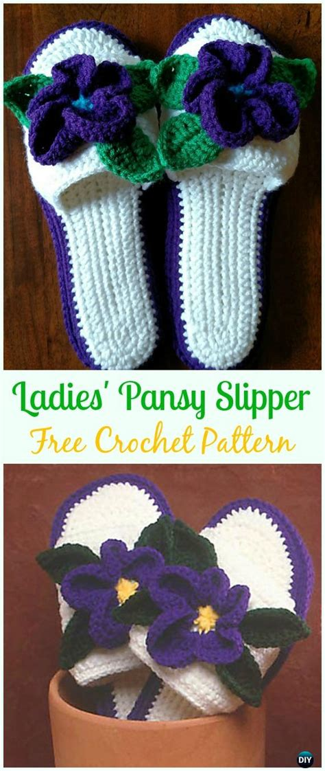 crochet women slippers  patterns diy instructions