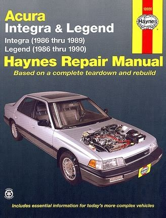 free service manuals online 1997 acura integra electronic toll collection acura integra legend repair manual 1986 1990 haynes 12020