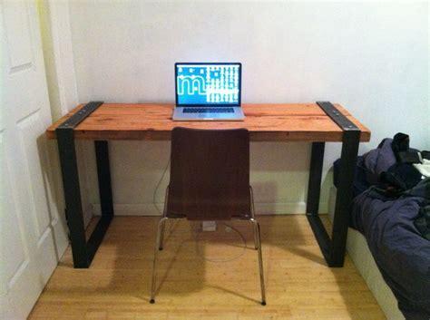 wood and steel desk pin by miranda mandichak thomas on home office pinterest