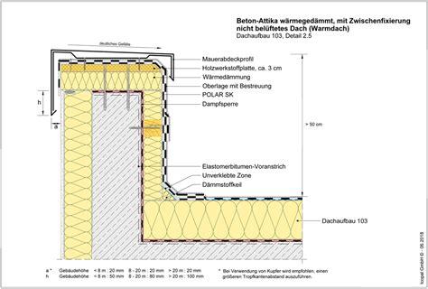 Zweischaliges Belueftetes Dach Kaltdach by Dachaufbau 103 Detail 2 5 Detailzeichnungen Icopal Gmbh