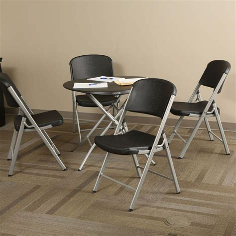 lifetime 5 black folding table and chair set 80438