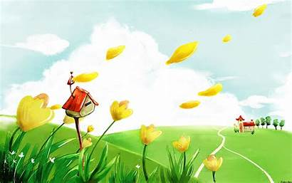 Cartoon Background Colorful Wallpapers Res Resolution