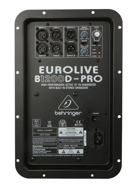 behringer    amp assembly  bd pro full compass systems