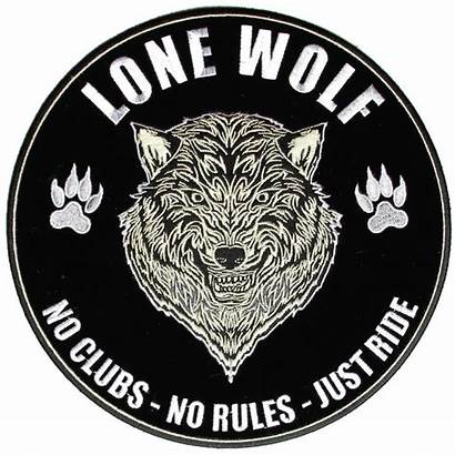 Wolf Lone Biker Patch Patches Rules Ride