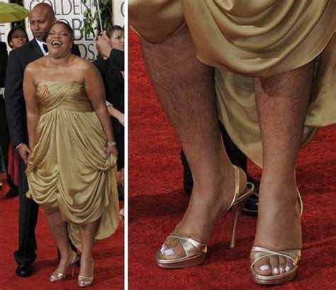 Quote Wanita Hamil Mo Nique Shows Hairy Legs At 2010 Golden Globes