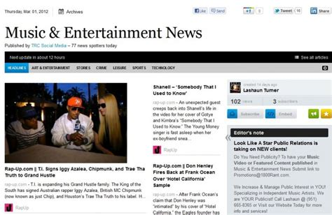 New Music & Entertainment News Daily Publication ...