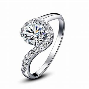 high quality white gold plated cubic zirconia ring for With high quality cubic zirconia wedding rings