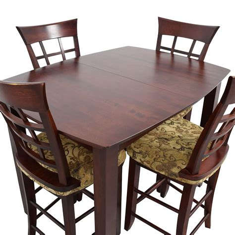 high top kitchen tables 48 high top dining table with four chairs tables