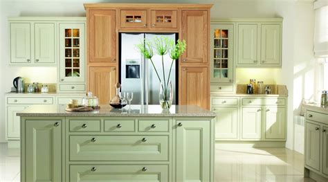 Painted Kitchen Green & Oak