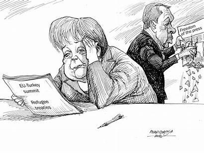 Karikatur March Cartoonists Week Zeitung Kleine Austria