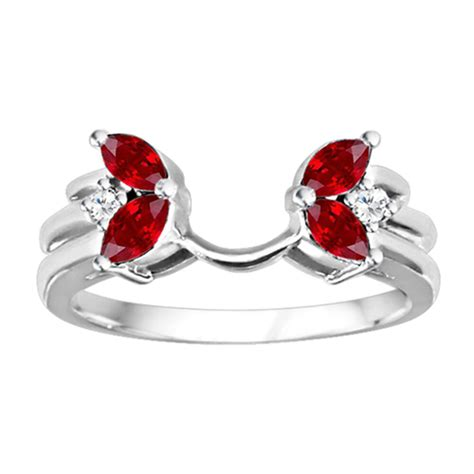 butterfly inspired ring wrap enhancer with and created ruby ebay