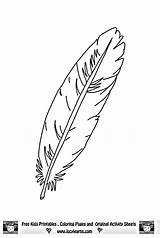 Feather Coloring Eagle Pages Printable Feathers Template Native American Outline Patterns Adult Tattoo Clipart Colouring Head Templates Bird Pattern Simple sketch template
