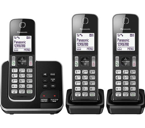 cordless phone with answering machine buy panasonic kx tgd323eb cordless phone with answering