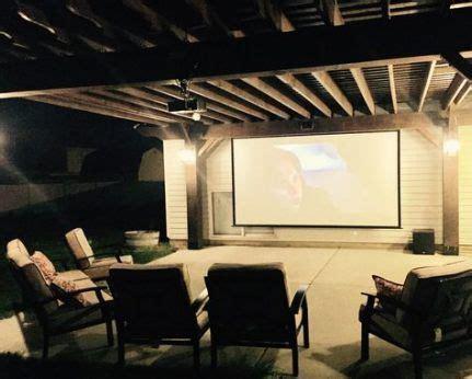 trendy backyard  theater projectors projection