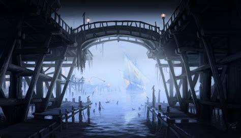 The Elder Scrolls V Skyrim Concept Art Wharf Ships The