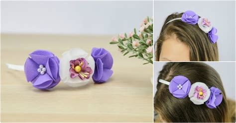 gorgeous fabric flower headband diy crafts