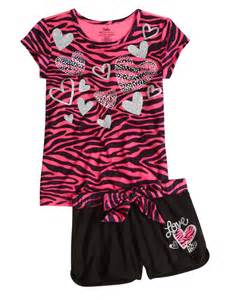 Justice for Girls Zebra Pajamas