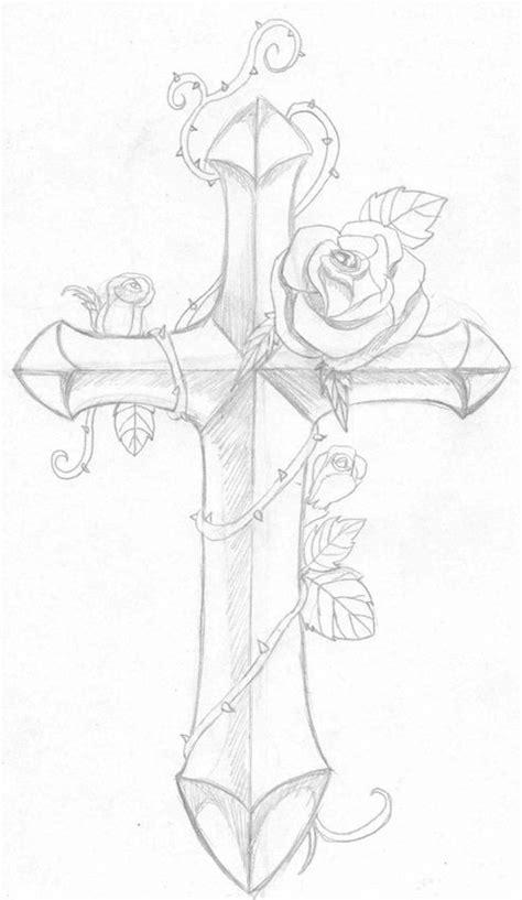 31 best Cross Outline Tattoo Designs images on Pinterest