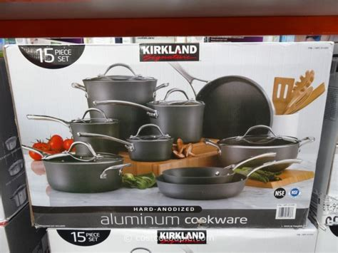 cookware anodized hard kirkland signature costco 15pc vary subject pricing inventory change any