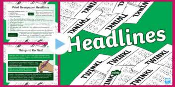 ks newspaper headlines powerpoint teacher