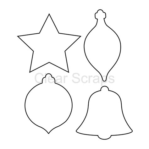christmas ornaments cutouts