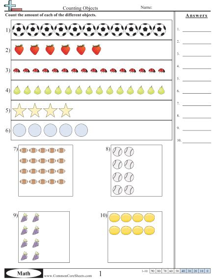 counting worksheets free commoncoresheets