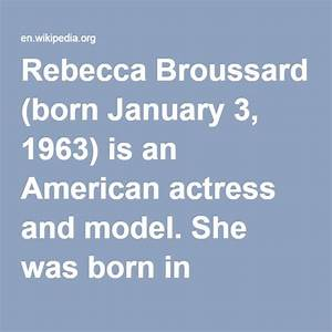 17 Best ideas about Rebecca Broussard on Pinterest | Annie ...