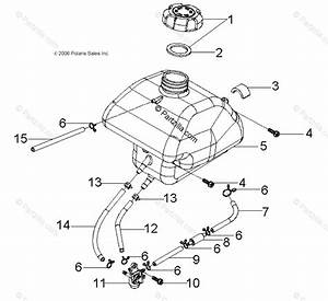 Polaris Atv 2009 Oem Parts Diagram For Body  Fuel Tank