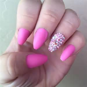 Ballerina Coffin-Shaped Nails