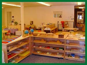 This is a clean, organized montessori classroom. A little ...