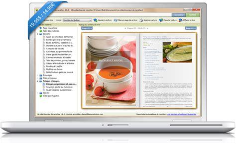 livre de cuisine gratuit le collectionneur de recettes logiciel de recettes et